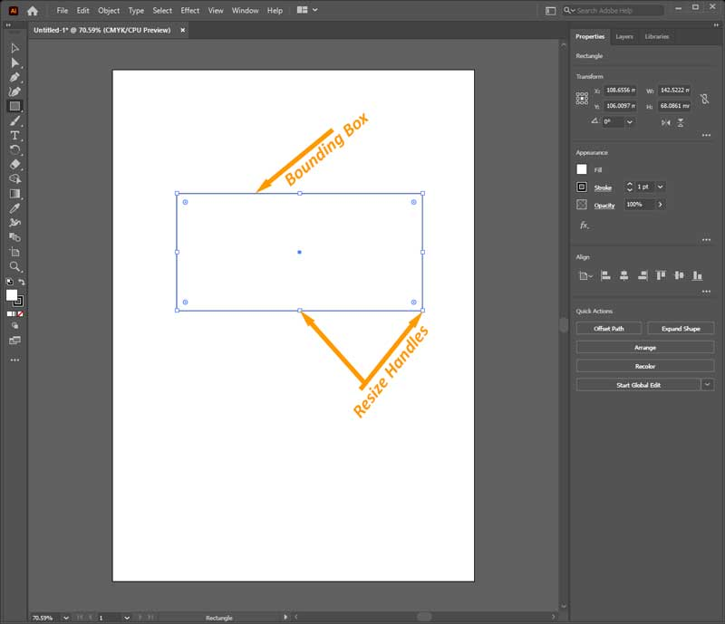 Bounding Box and Resize Handles