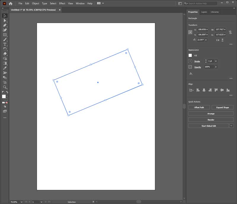 Rotated Object