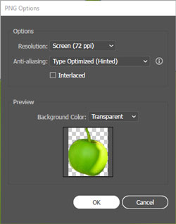 PNG Export Option