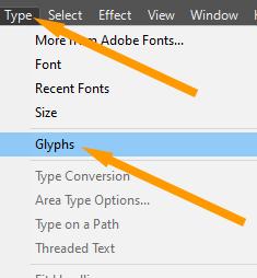 Glyphs Option
