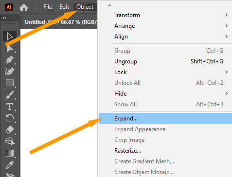 Object Expand Option