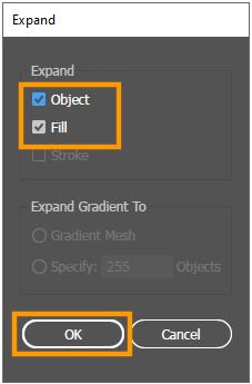 Object Fill Option