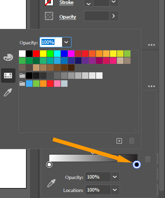 Selecting Color for Gradient