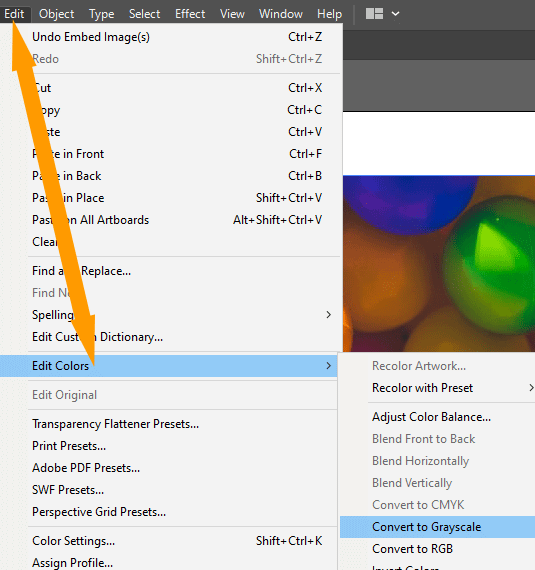 Convert to Grayscale Option